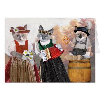 Carte de voeux de chaton d'Oktoberfest