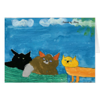 Carte de voeux de chats