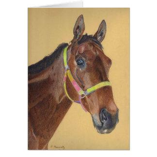 Carte de voeux de cheval de pur sang