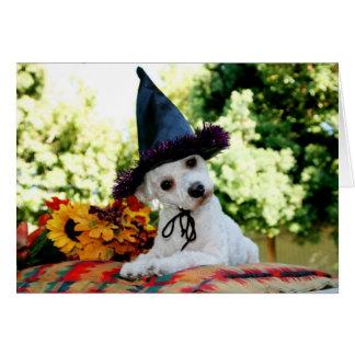 Carte de voeux de chien de bon thanksgiving