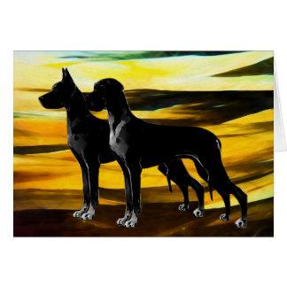Carte de voeux de chien de great dane