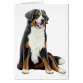 Carte de voeux de chien de montagne de Bernese