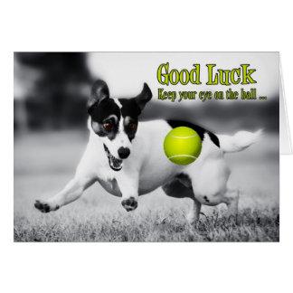 Carte de voeux de chien de Terrier de bonne chance