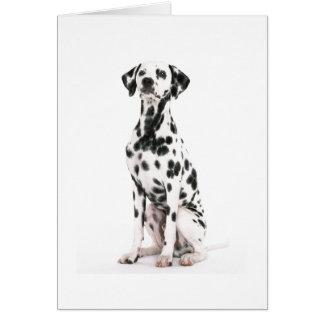 Carte de voeux de chien du feu