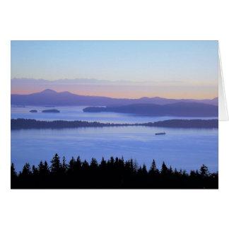Carte de voeux de Chuckanut Mt WA d'îles de San