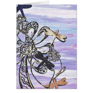 Carte de voeux de ciel de libellule