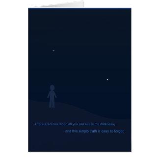 Carte de voeux de ciel nocturne