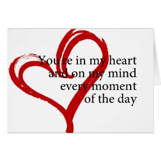Carte de voeux de citation d'amour de joyeux
