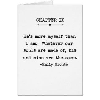 Carte de voeux de citation d'Emily Bronte