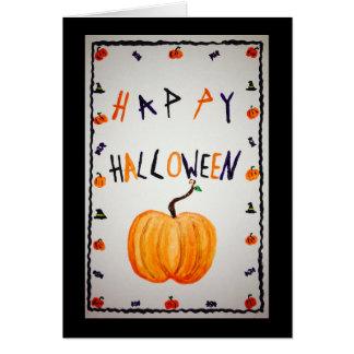 Carte de voeux de citrouille de Halloween