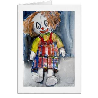 Carte de voeux de clown