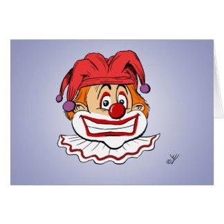 Carte de voeux de clown d'anniversaire