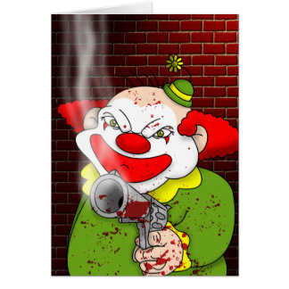 Carte de voeux de clown de tueur