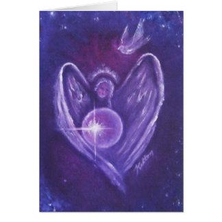 Carte de voeux de coeur d'ange