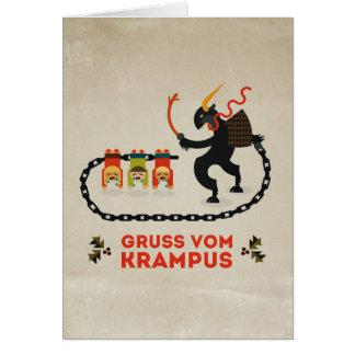 Carte de voeux de COM Krampus de Gruss