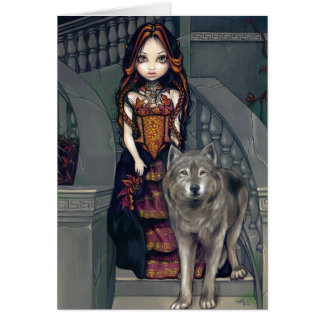 """Carte de voeux """"de comtesse de loup"""""""