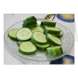 Carte de voeux de concombre