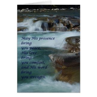 carte de voeux de confort, mots d'encouragement