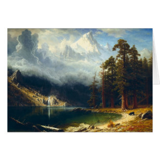Carte de voeux de Corcoran de bâti de Bierstadt