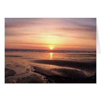 Carte de voeux de coucher du soleil