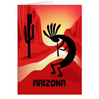 Carte de voeux de coucher du soleil de l'Arizona