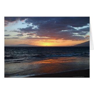 Carte de voeux de coucher du soleil de Maui