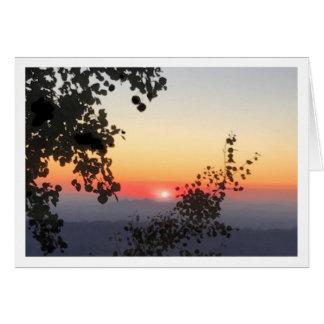 Carte de voeux de coucher du soleil de Mt. Lemmon