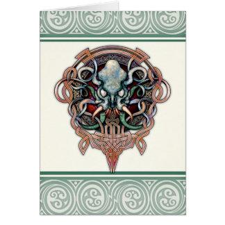Carte de voeux de Ctheltic Cthulhu