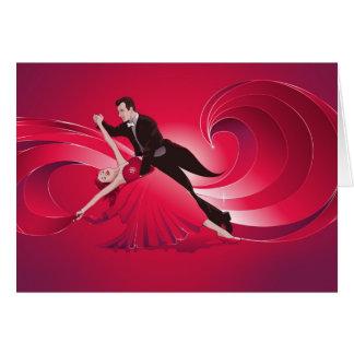 Carte de voeux de danseurs de salle de bal - carte
