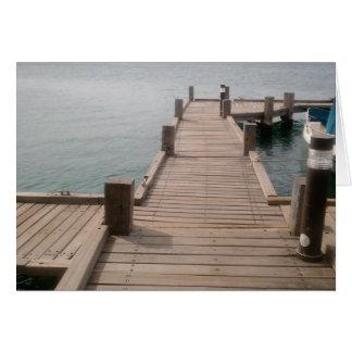 Carte de voeux de dock de bateau d'Aruba