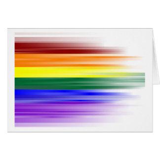 Carte de voeux de drapeau d'arc-en-ciel