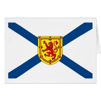 Carte de voeux de drapeau de la Nouvelle-Écosse