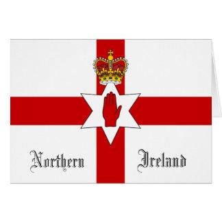 Carte de voeux de drapeau de l'Irlande du Nord