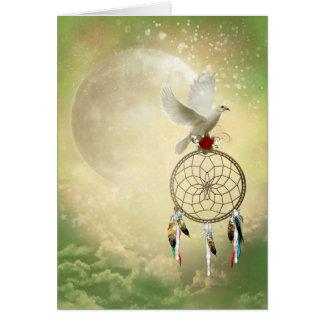 Carte de voeux de Dreamcatcher de colombe