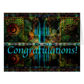 Carte de voeux de félicitations