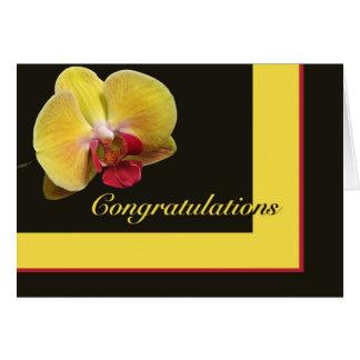 Carte de voeux de félicitations - orchidée de mite