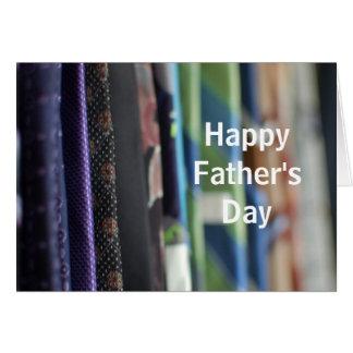 Carte de voeux de fête des pères de photo de crava