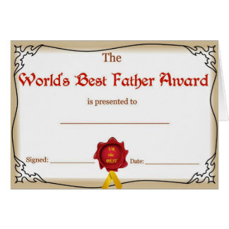 Carte de voeux de fête des pères/père des mondes