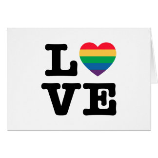 Carte de voeux de fierté de coeur d'amour -