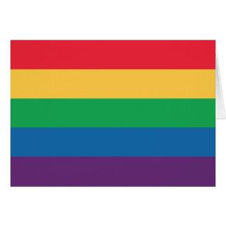 Carte de voeux de fierté de drapeau d'arc-en-ciel