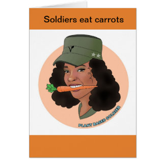 Carte de voeux de fille de soldat
