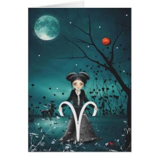 Carte de voeux de filles de zodiaque - Bélier