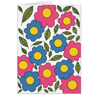 Carte de voeux de fleur #2-B