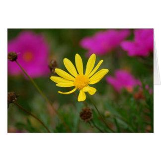 Carte de voeux de fleur sauvage