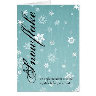 Carte de voeux de flocon de neige