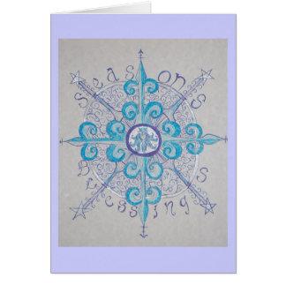 Carte de voeux de flocon de neige de Noël