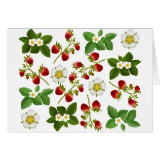 Carte de voeux de fraises