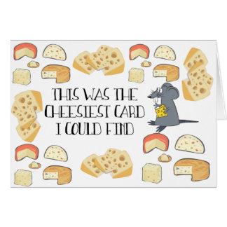 Carte de voeux de fromage