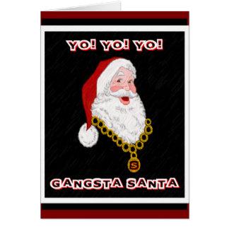 Carte de voeux de Gangsta Père Noël