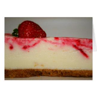 Carte de voeux de gâteau au fromage de fraise,